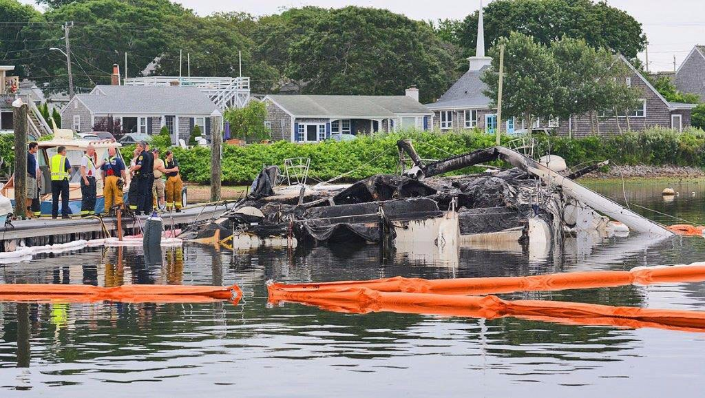 Falmouth Boat Fire