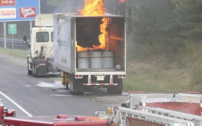 Trident responded to Truck fire involving hazardous wastes.