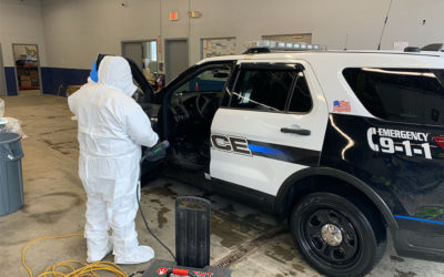 Norfolk company cleans cruisers, fire trucks for Wrentham, Norfolk and Plainville.